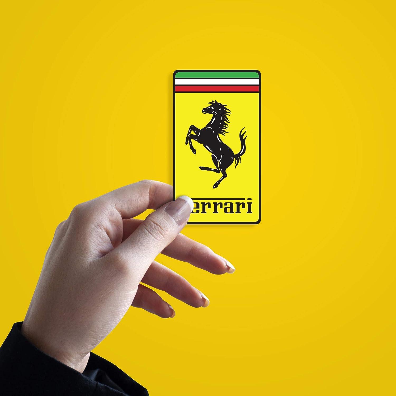 Stickernaut Ferrari Badge Sticker for Water Bottles 2 Pack Premium Matte Waterproof Vinyl
