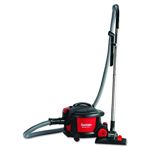 Sanitaire SC3700A Quiet Clean Canister Vacuum, Red Black, 9.0 Amp, 11 Cleaning Path