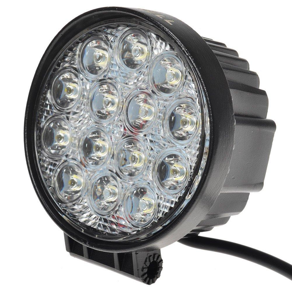 KAWELL 42W 30 Degree Round LED Spot Light Off Road Lighting 12V 24V Off Road 4x4 Quad Atv Lighting