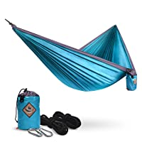 PACEARTH Double Camping Hammock with Tree Straps