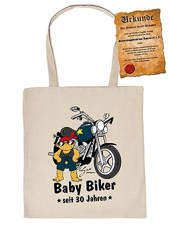Geschenk 30 Geburtstag Coole Geschenktasche 30 Baby Biker Seit
