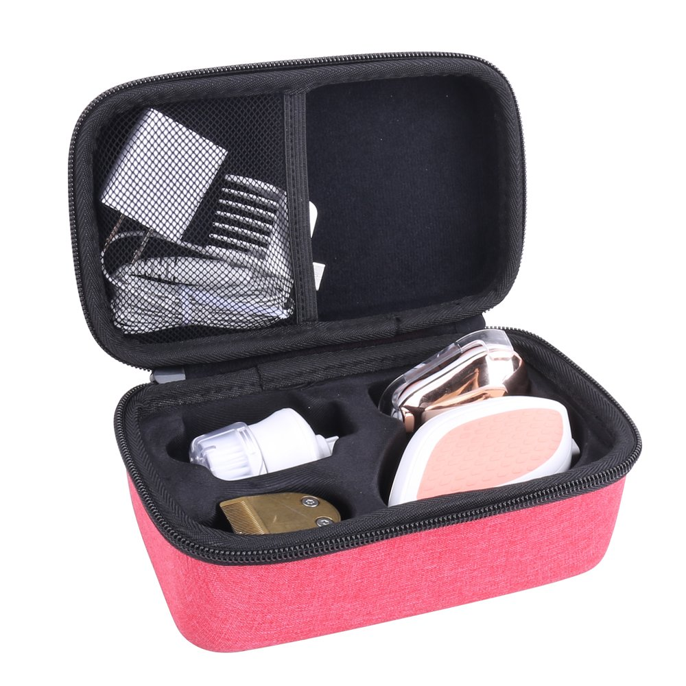 Hard Travel Storage Case for HATTEKER Women's Hair Removal For Legs (Red)