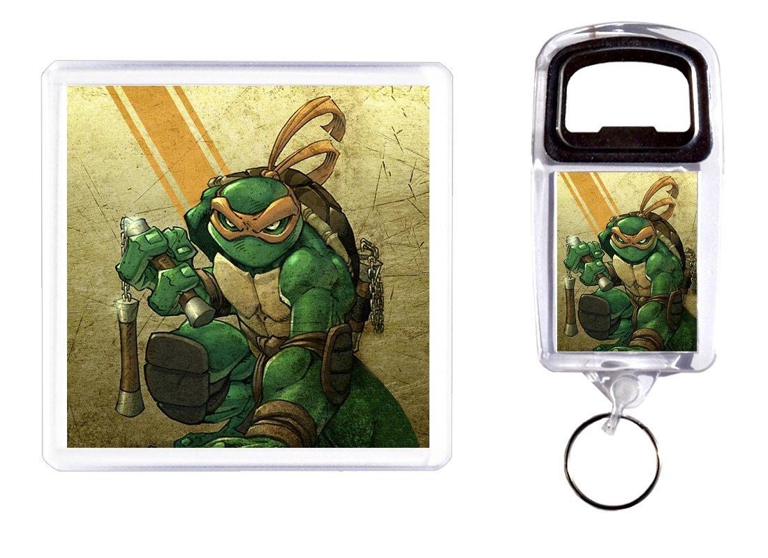Abridor de botella y posavasos Tortugas Ninja 2: Amazon.es ...