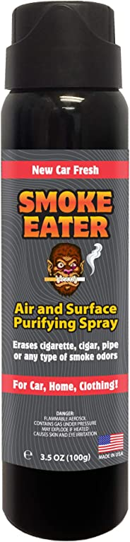Smoke Eater - Breaks Down Smoke Odor at The Molecular Level - Eliminates Cigarette, Cigar or Pot Smoke On Clothes, in Cars,