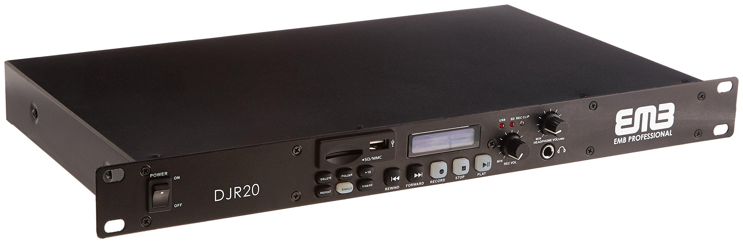 EMB Professional DJR20 1U SINGLE USB/SD Digital Player & Recorder Rack Mount