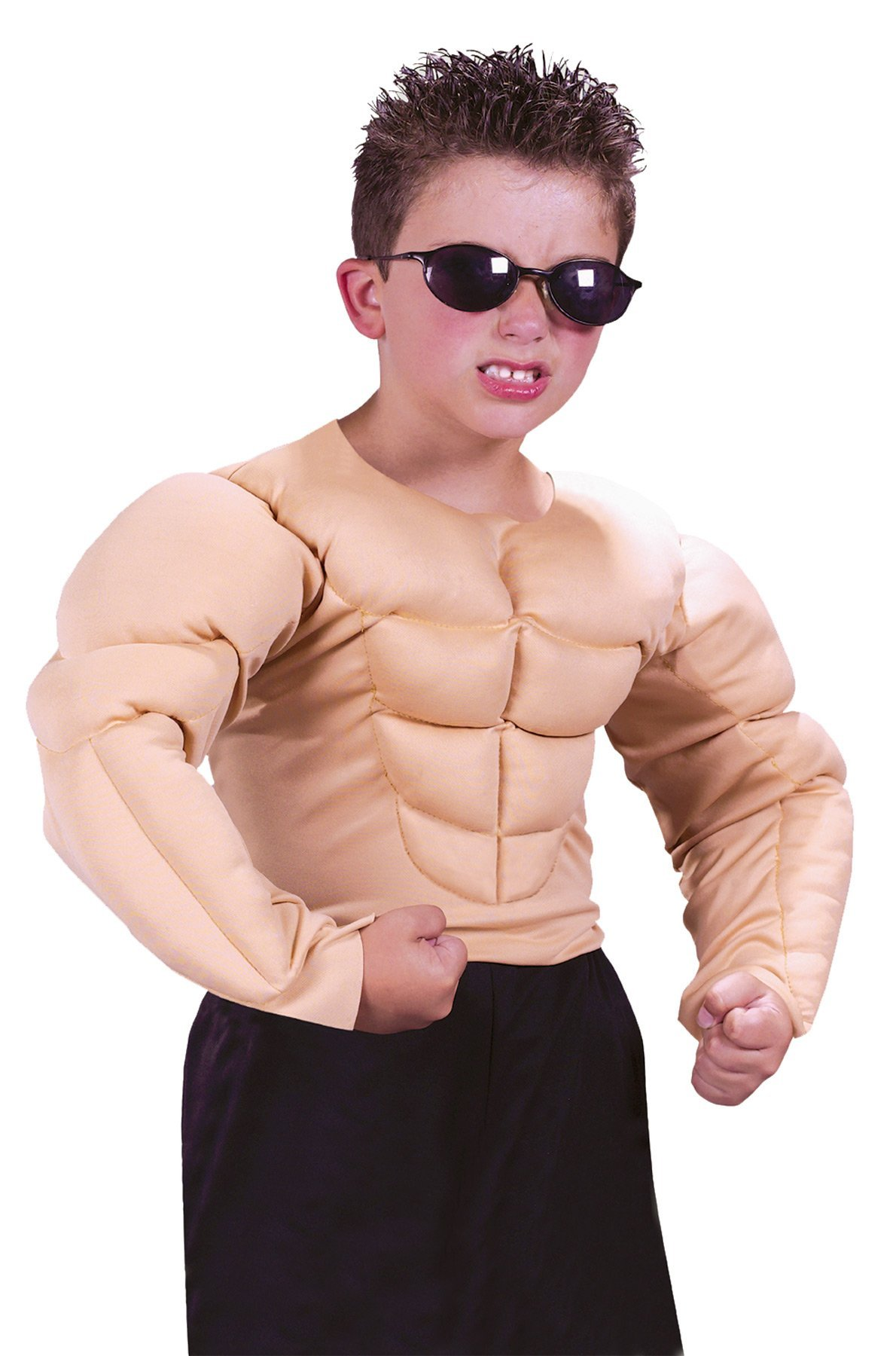 GTH Boy's Muscle Shirt Kids Child Fancy Dress Party Halloween Costume, M (8-10) by FunWorld (Image #1)