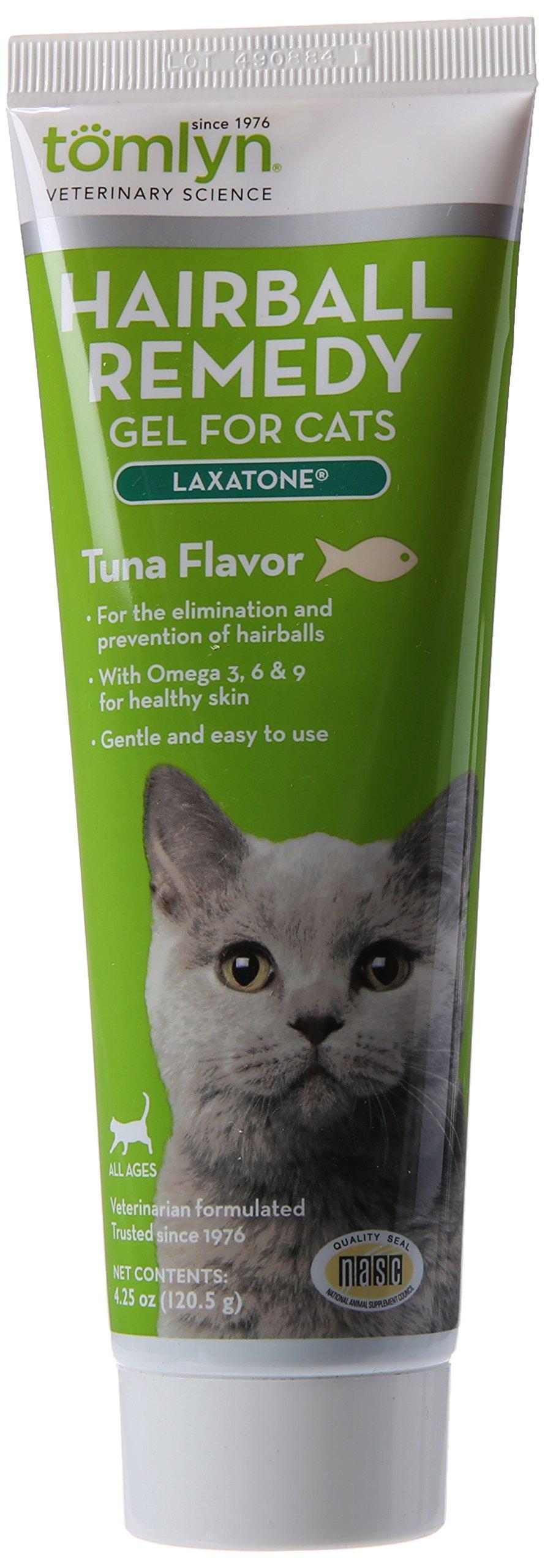 Tomlyn Hairball Remedy for Cats, Tuna Flavor, (Laxatone) 4.25 oz by TOMLYN