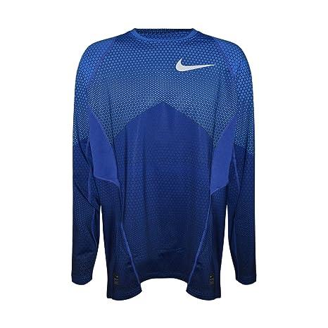 78cbc3dbca99 Amazon.com  Nike Pro Hyperwarm Fitted Long Sleeve 917263 480 Blue ...