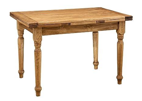 Tavolo allungabile in legno massello di tiglio - Stile Country ...