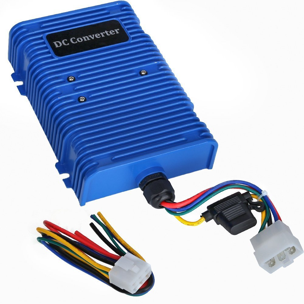 10l0l 30 Amp Golf Cart Voltage Reducer 1996 Yamaha 14 Ep Wire Harness Schematic Converter 36v 48v To 12v With Dual Power Source Fits On Club Car E Z Go 360 Watt