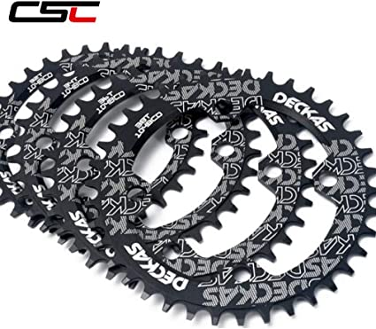 DECKAS 104bcd//96-Sbcd MTB Bike Chainring Round Oval Single Chainwheel 32-38T