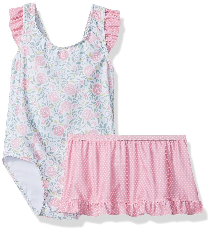 SOL Swim Little Girls' Solo Swim-4-6x-Rosie's Garden One Pc Swimsuit With Skirt