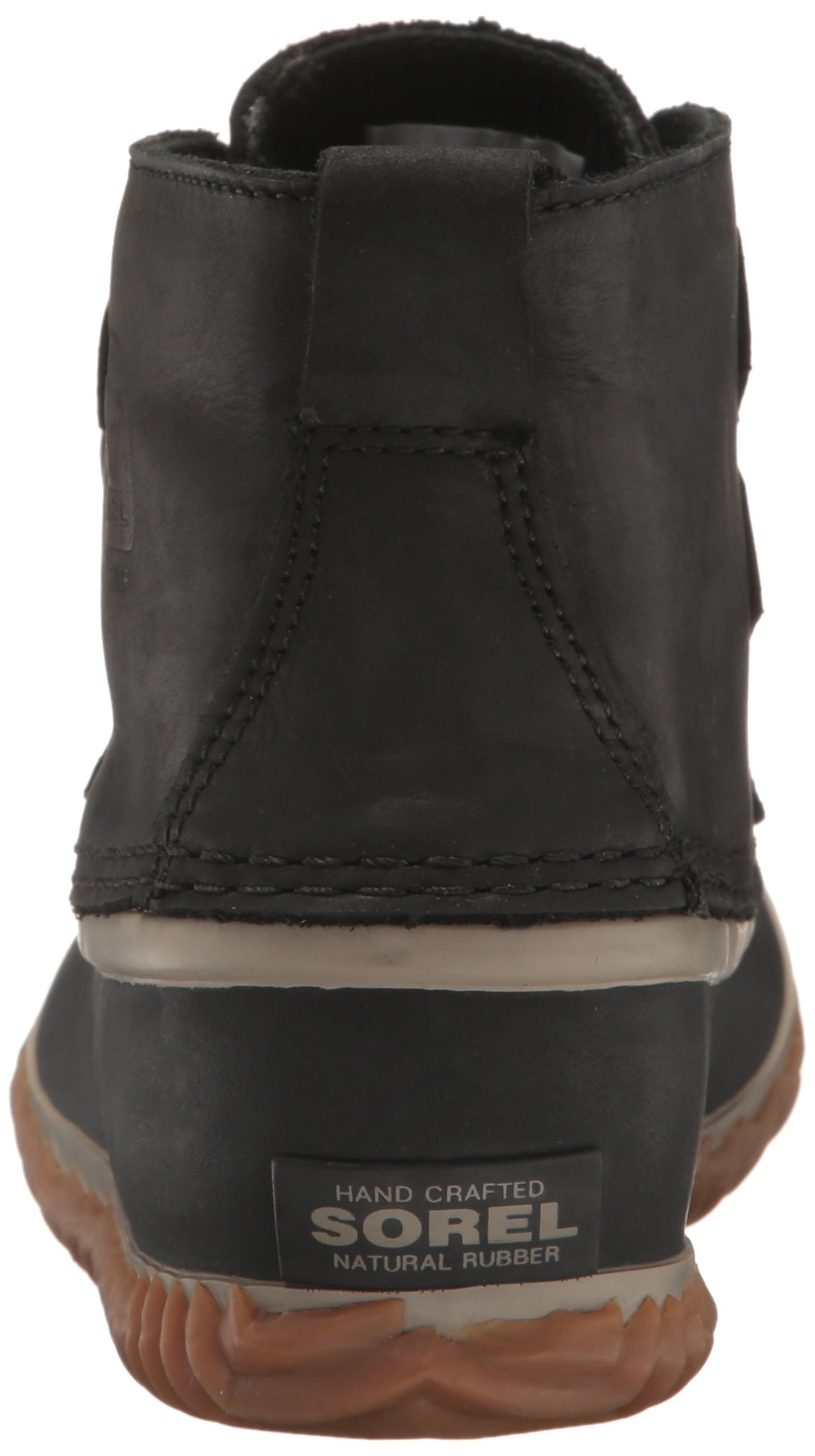 SOREL Women's Out N About Leather Rain Snow Boot, Black, 7.5 M US by SOREL (Image #2)