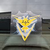 Team Yellow KyokoVinyl VYNL/_Team/_Instinct/_Logo/_2 4.5 x 4.8 Instinct Decal Stickers for Car//Truck//Laptop Pokemon Go