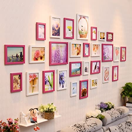 Photo frames Photo Frames Multiple Styles Solid Wood Photo Wall ...