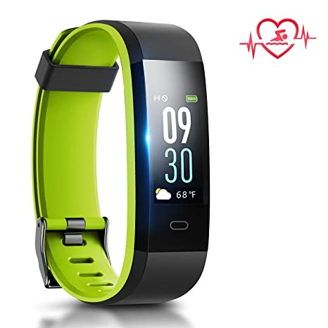 Coffea Activity Tracker, Sport Fitness Tracker Watch, Color Screen Pedometer Watch IP68 Waterproof Smart Bracelet with Anti-Lost Strap for Android and ...