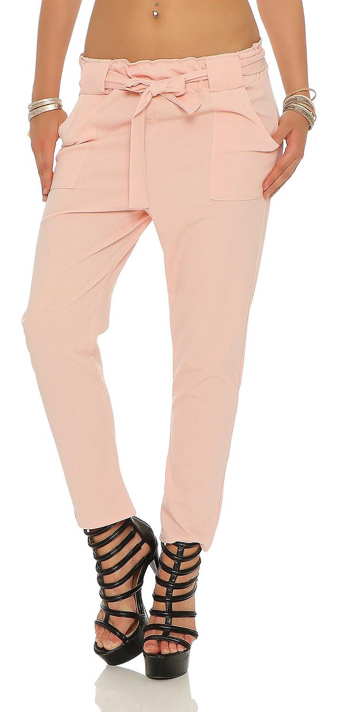 Edle Designer Damen Ankle Hose Stretch Damenhose Sommerhose 4 Farben NEU B501