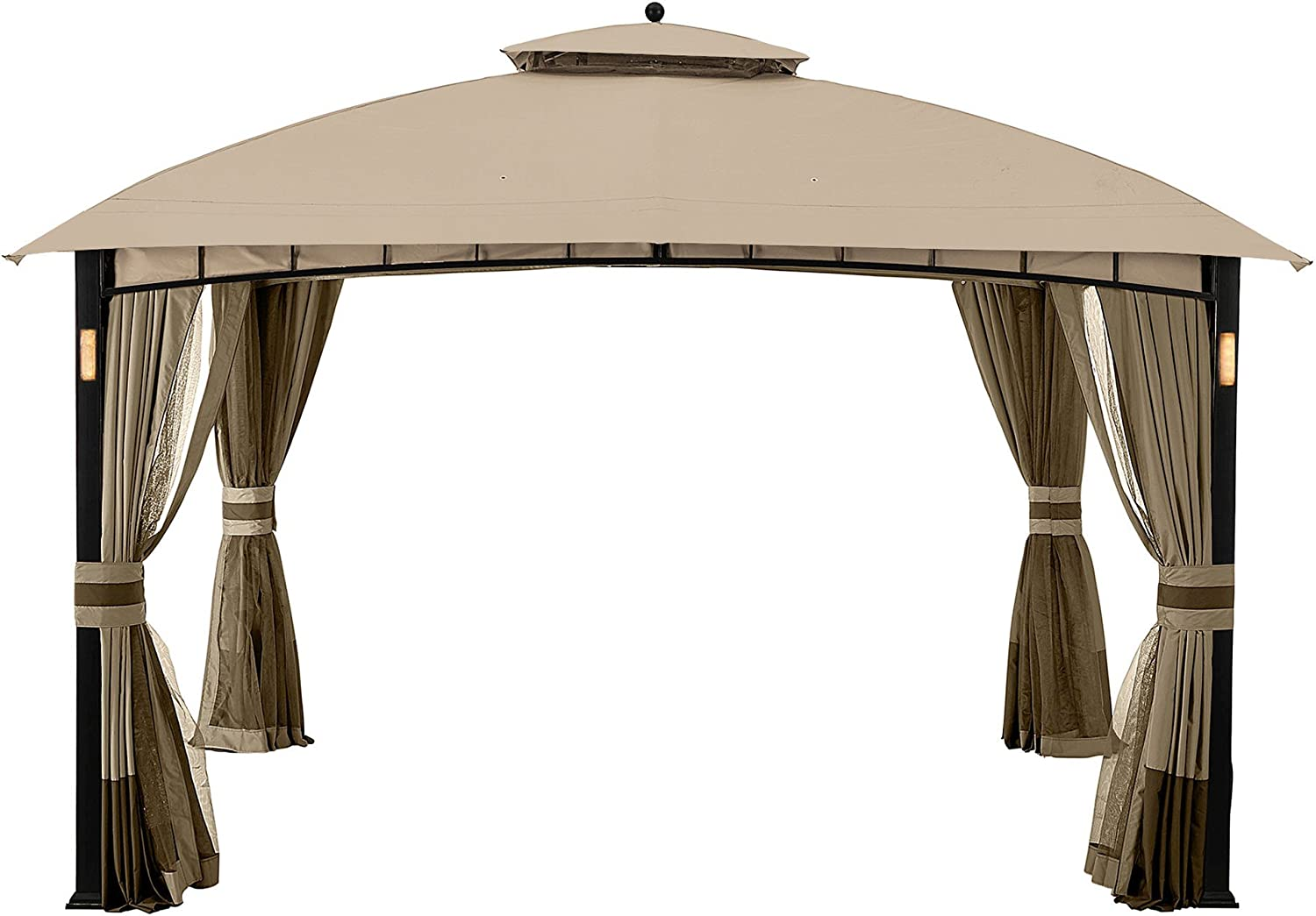 Garden Winds LCM1386B Moorehead Gazebo Replacement Canopy, Beige
