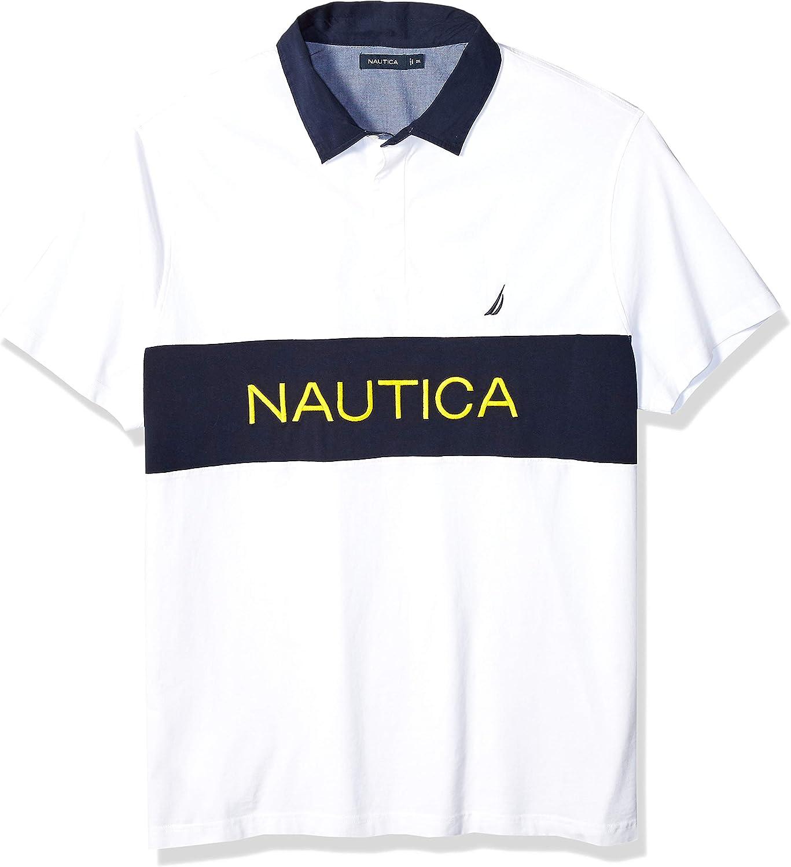 Nautica - Polo de manga corta para hombre, diseño de rayas, 100% algodón - Blanco - Large Tall: Amazon.es: Ropa y accesorios
