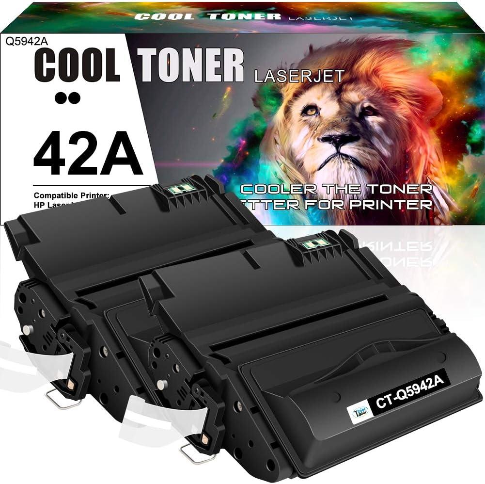 Cool Toner Compatible Toner Cartridge Replacement for HP 42A Q5942A 42X Q5942X 38A Q1338A HP Laserjet 4250 4200 4350 4300 4250N 4240 4350N 4250TN 4250DTN 4350DTN 4350TN Printer Ink (Black, 2-Pack)