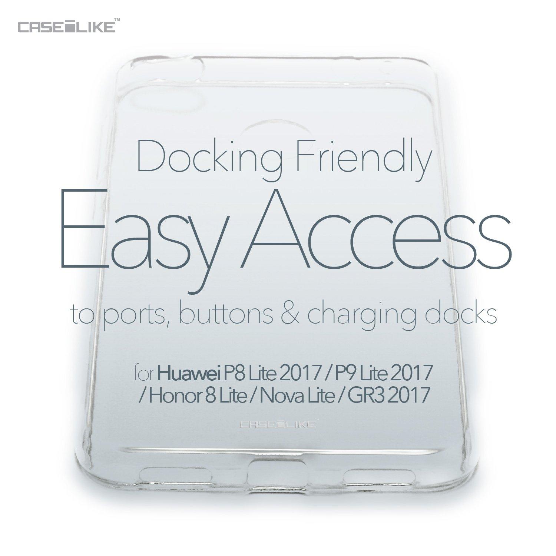 CASEiLIKE Funda P8 Lite 2017 Carcasa Huawei P8 Lite 2017//P9 Lite 2017//Honor 8 Lite//Nova Lite//GR3 2017 Arte de la mandala 2302 TPU Gel silicone protectora cover