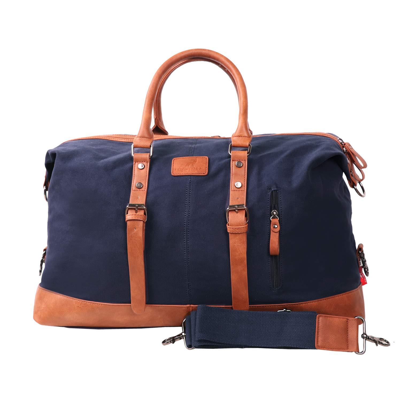 Canvas Duffel Bag for Men Weekender Travel Gym Bag 22 inch
