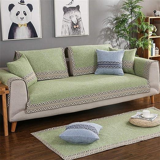Ranferuyk - Funda para sofá de 1 Pieza de Tela de Lino y ...