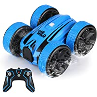 Amphibious Remote Control Car , Perkisboby 2.4GHz Waterproof Off Road Truck, 4WD Electric Double Sides RC Stunt Boat…