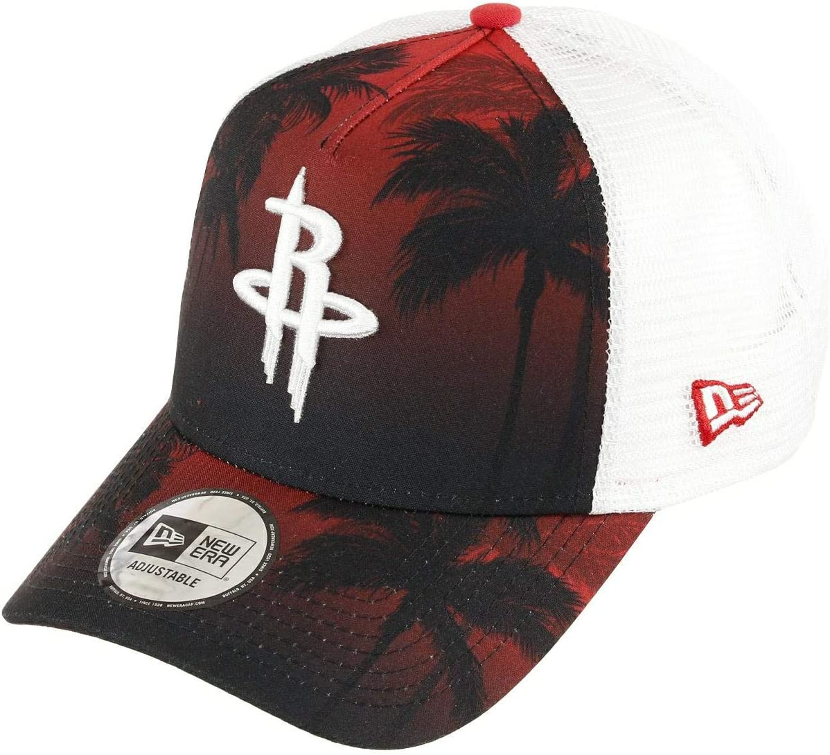 New Era Houston Rockets Frame Adjustable Trucker Cap NBA Palm Tree ...