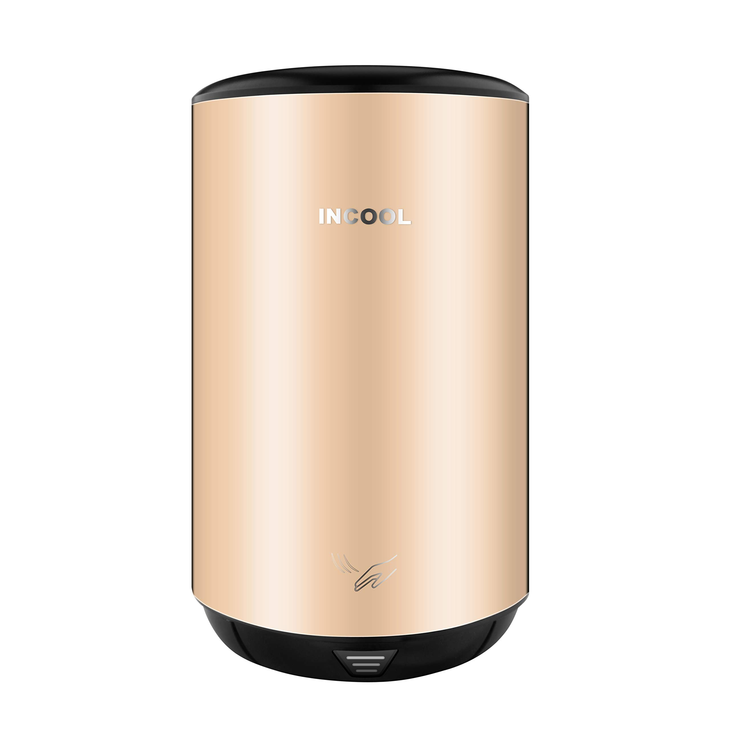 iNcool High Speed Commercial Hand Dryer,Powerful Wind Hand Blower(Bronzed Stainless Steel)