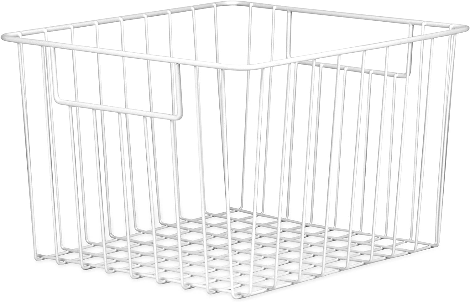 Pack of 2 Mesh Storage Baskets | Wire Organiser Bins | Multi Purpose Wire Shelves | Bedroom, Kitchen or Bathroom Storage | M&W