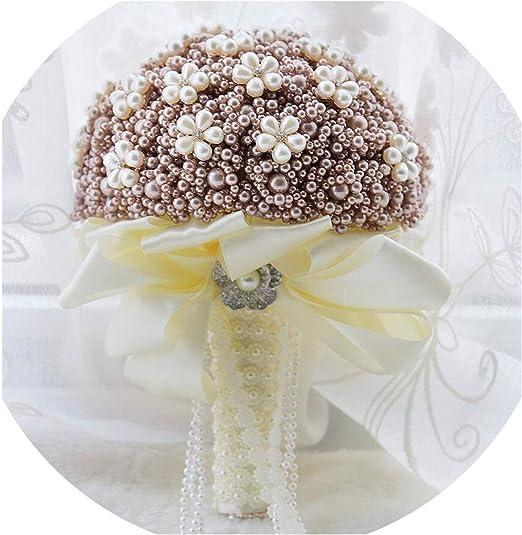 Amazon Com Wedding Bouquet Silk Wedding Flowers Rhinestone