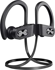 Mpow Flame S Bluetooth Headphones Sports, aptX-HD Bass+ Loud Sound, Handsfree Call,BT5.0,12H Playtime, IPX7 Waterproof, CVC 8.0 Noise Cancelling Mic,W/Carrying Case, for iPhone/Android/Windows, Black