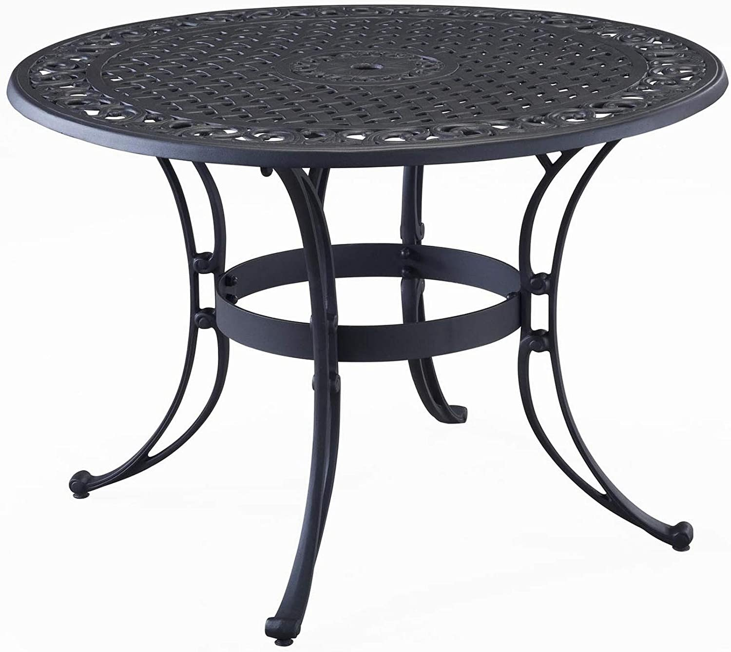 homestyles 6654-32 Outdoor Dining Table, 48Lx48Dx28.75H, Black