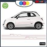 Fiat 500 logo sticker decalcomania replica adesivo prespaziato senza fondo in vinile colore rosso lucido 10 centimetri.