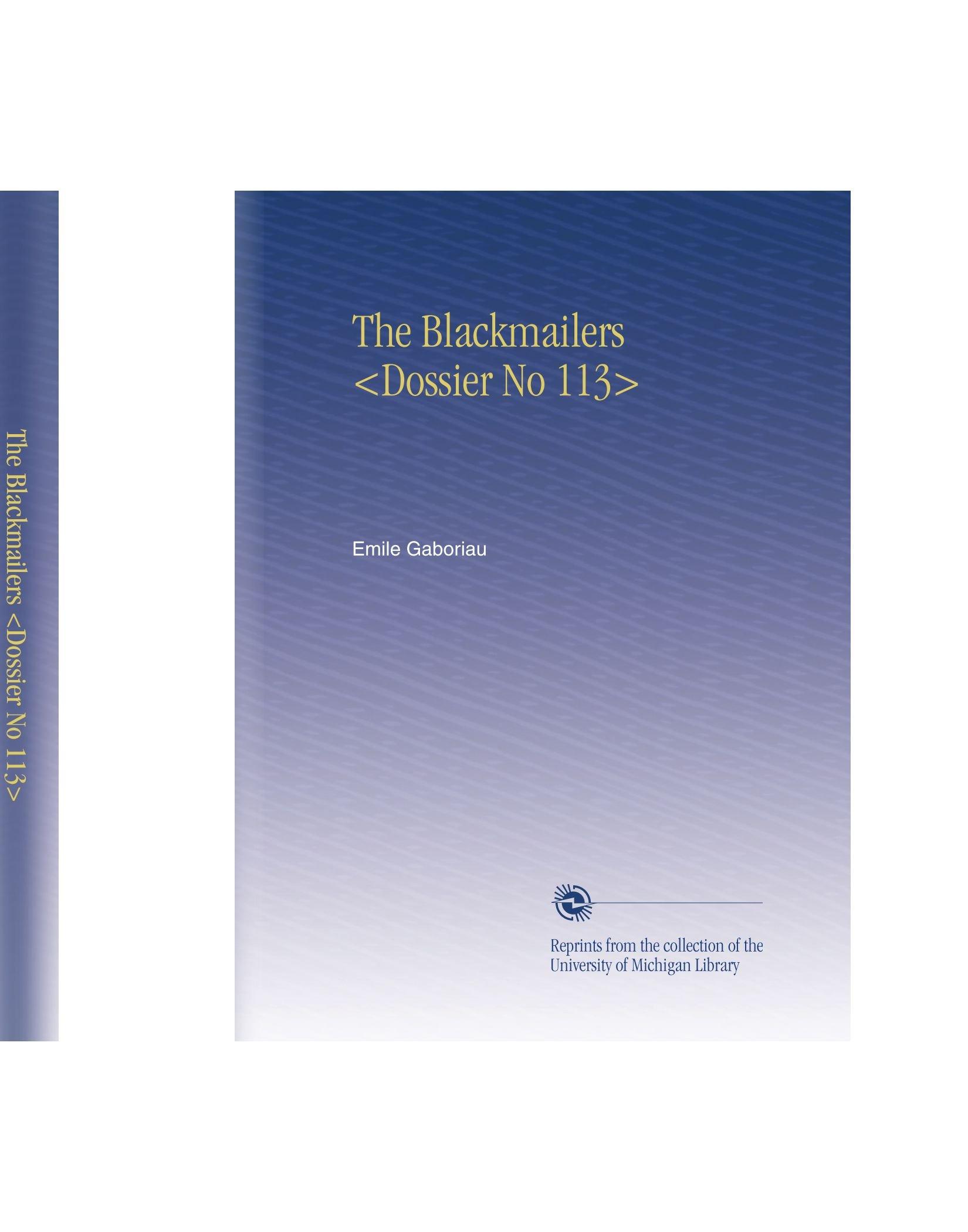 Read Online The Blackmailers pdf epub