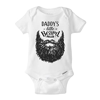 aab7da41f2b7 Daddy Beard Onesie Funny Hipster Baby Gift