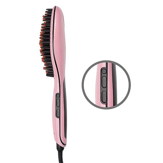 Ultratec Cepillo alisador, antiestático - modelador para más volumen - cepillo alisador con calentamiento rápido, cepillo alisador de pelo con calentamiento ...