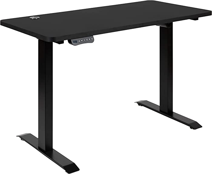 "Flash Furniture Electric Height Adjustable Standing Desk - Table Top 48"" Wide - 24"" Deep (Black)"
