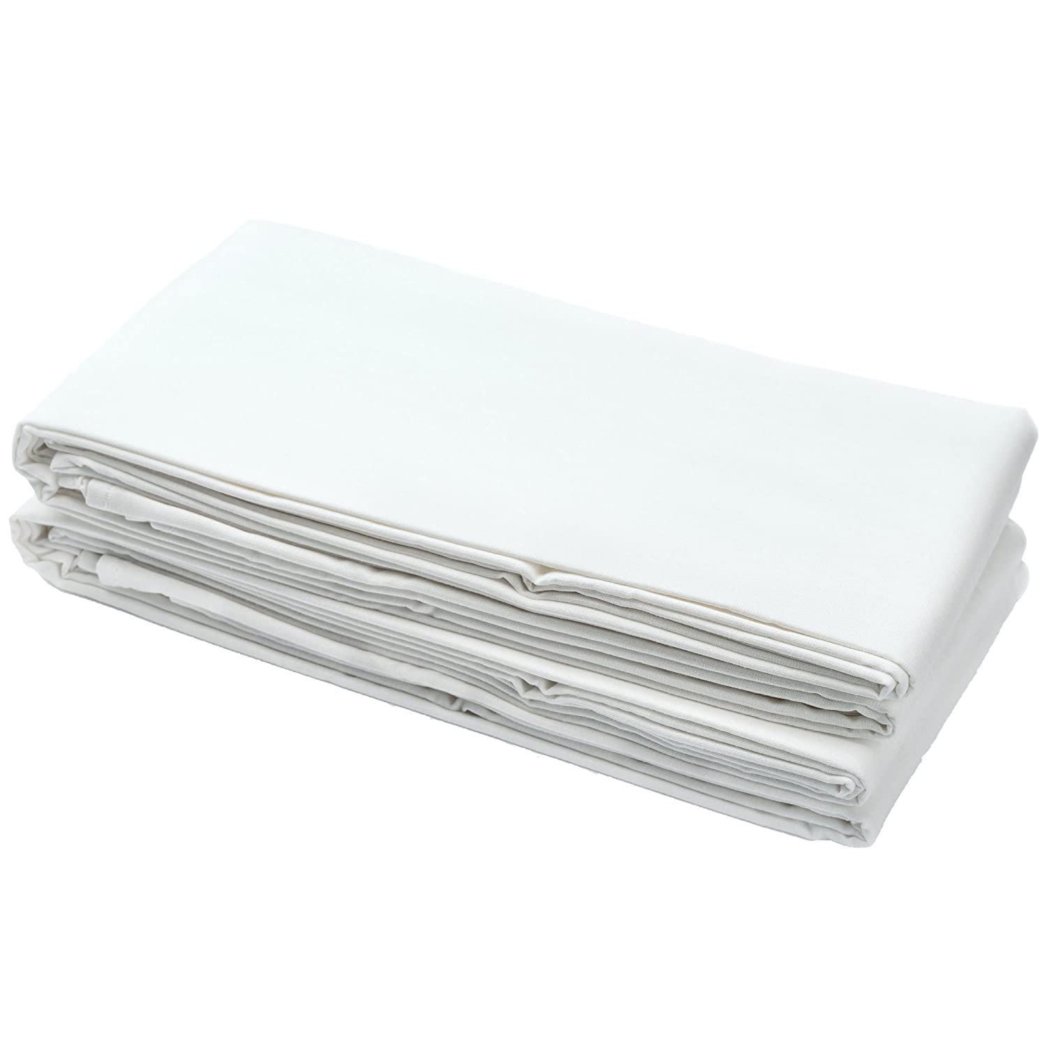 2X Cotton Jersey Fitted Sheet 100% Cotton 120cm x 60cm White For-Your-Little-One