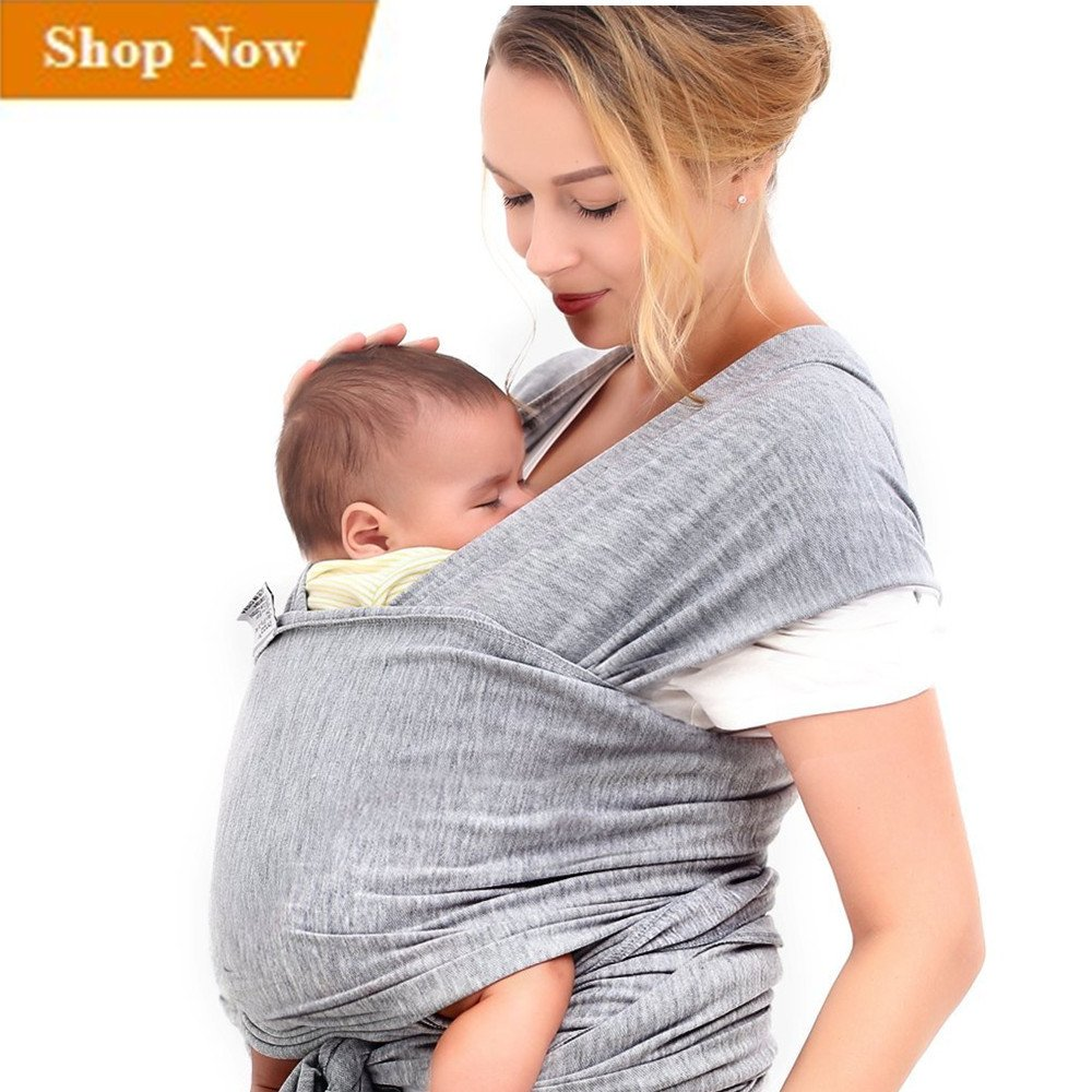 31ed821c48a Amazon.com   Innoo Tech Baby Sling Carrier Natural Cotton Nursing Baby Wrap  Suitable for Newborns to 35 lbs Breastfeeding Sling Baby Holder Soft Safe  and ...