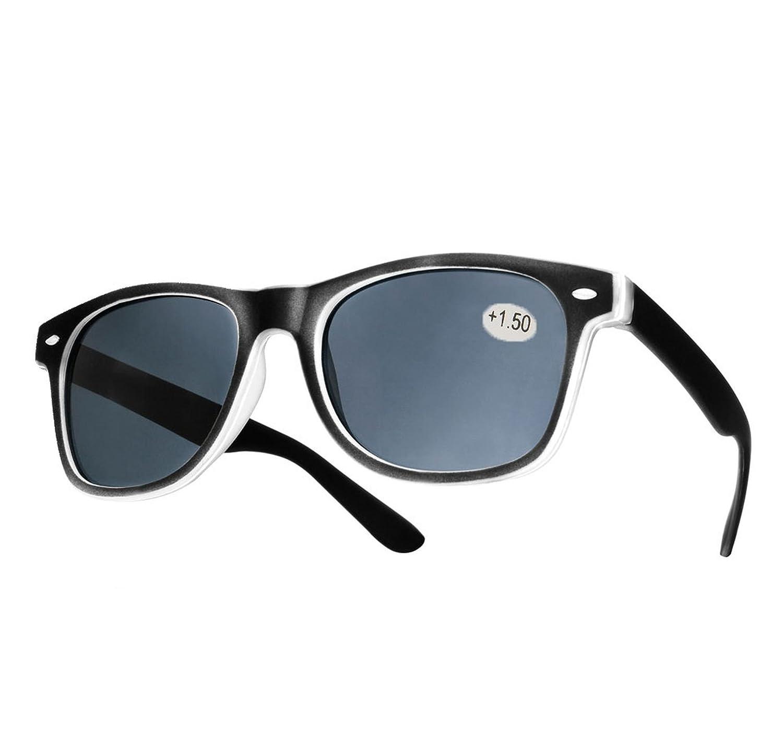 NEW Damen Herren +1.5 Sun Lesebrille Vinatge Retro gegenüber Sonnenlicht in der Sonne zu lesen Brille Morefaz(TM)
