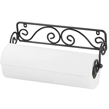 Home Basics Scroll Design Wall Mounted Paper Towel Holder