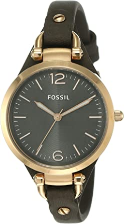 TALLA one size. Fossil ES3077 - Reloj de pulsera, color gris, tamaño