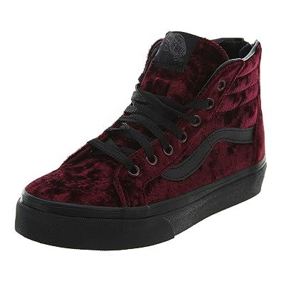 Vans Sk8-Hi Zip (Velvet) Big Kids Style  VN0A3276-F17 Size 8925e4a19833