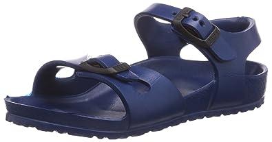 048f5cef7b2 Birkenstock Rio Kids EVA Dual Buckle Flat Sandals Navy 24 (Infant)