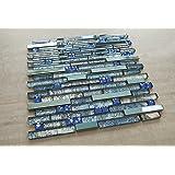 Blue Stainless Steel + Blue (Diamond Shape) Glass + Blue Galaxy Glass