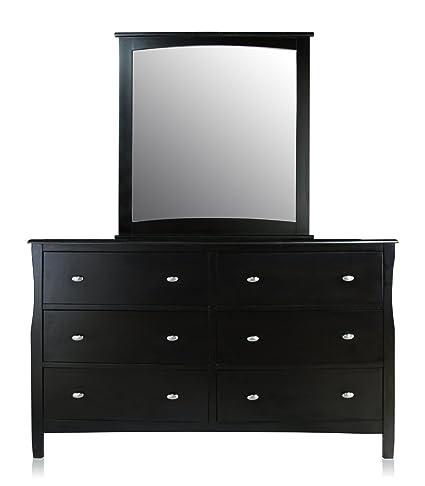 Amazon Com Furniture Of America Essos Modern Dresser And Mirror Set