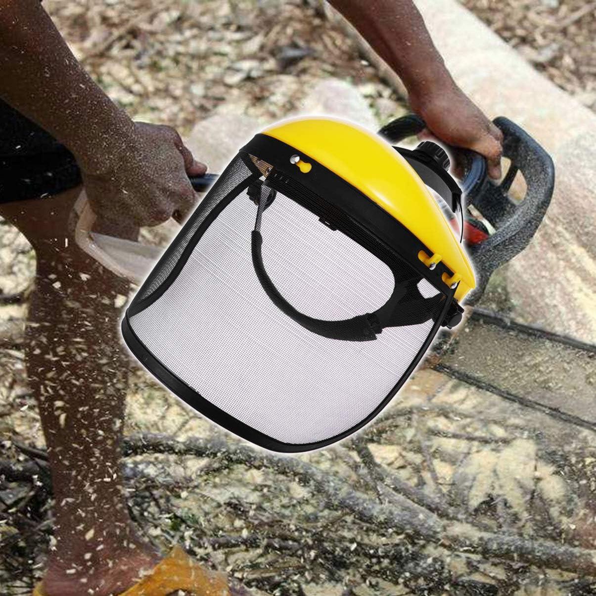 Hemoton Protective Face Sheld Equipment Safety Helmet Headgear Welding Grinding Cutting Face Shield Visor with Ratchet Head Gear