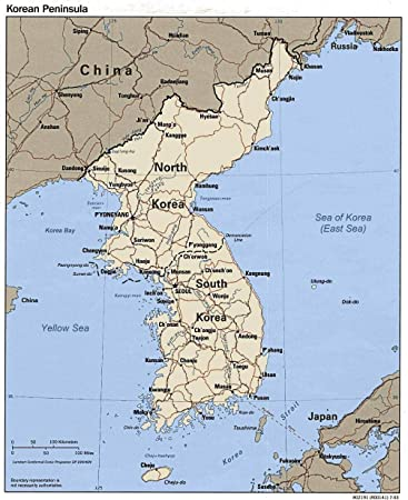 Amazon.com: Home Comforts Laminated Map - Korea Map Jpg Fair Us ...